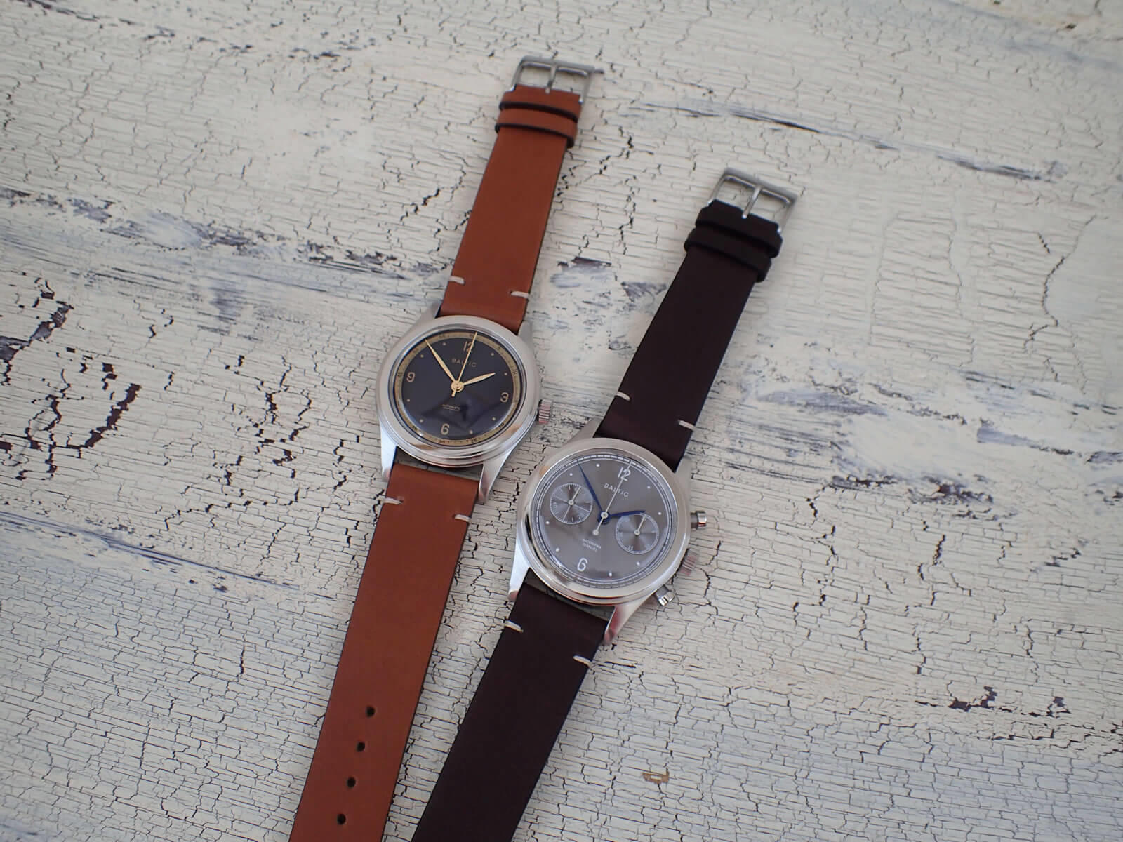 Baltic Watches「HMS 001 - Blue & Gold」&「Bicompax 001 - Slate Grey」